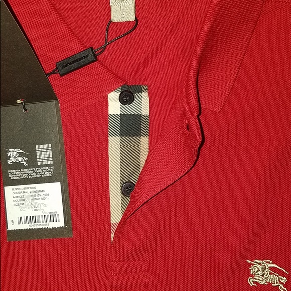 1d25fc429b58 burberry brit red men check polo shirt